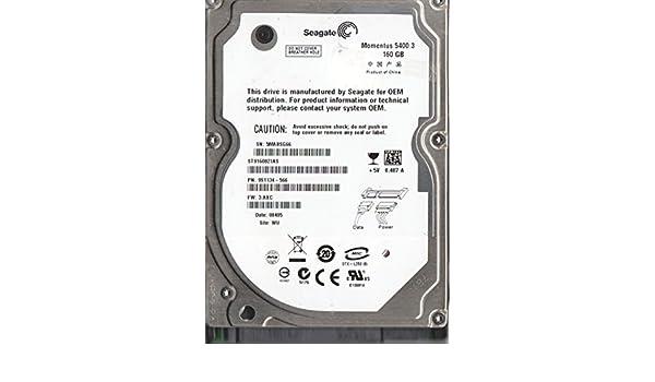 5MA Seagate 160GB SATA 2.5 Hard Drive FW 3.AXC PN 9S1134-566 ST9160821AS WU