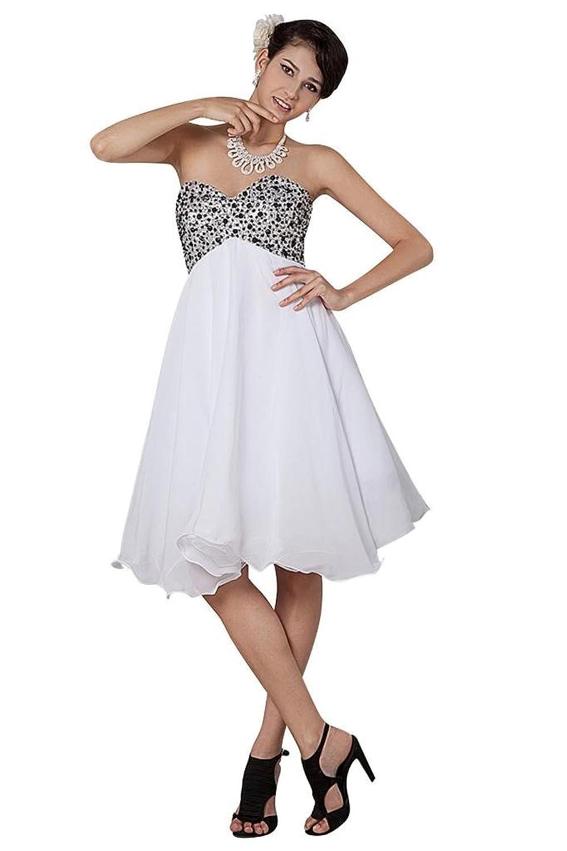 GEORGE BRIDE Sweetheart Ruffles Chiffon Lace-up Short Evening Dress