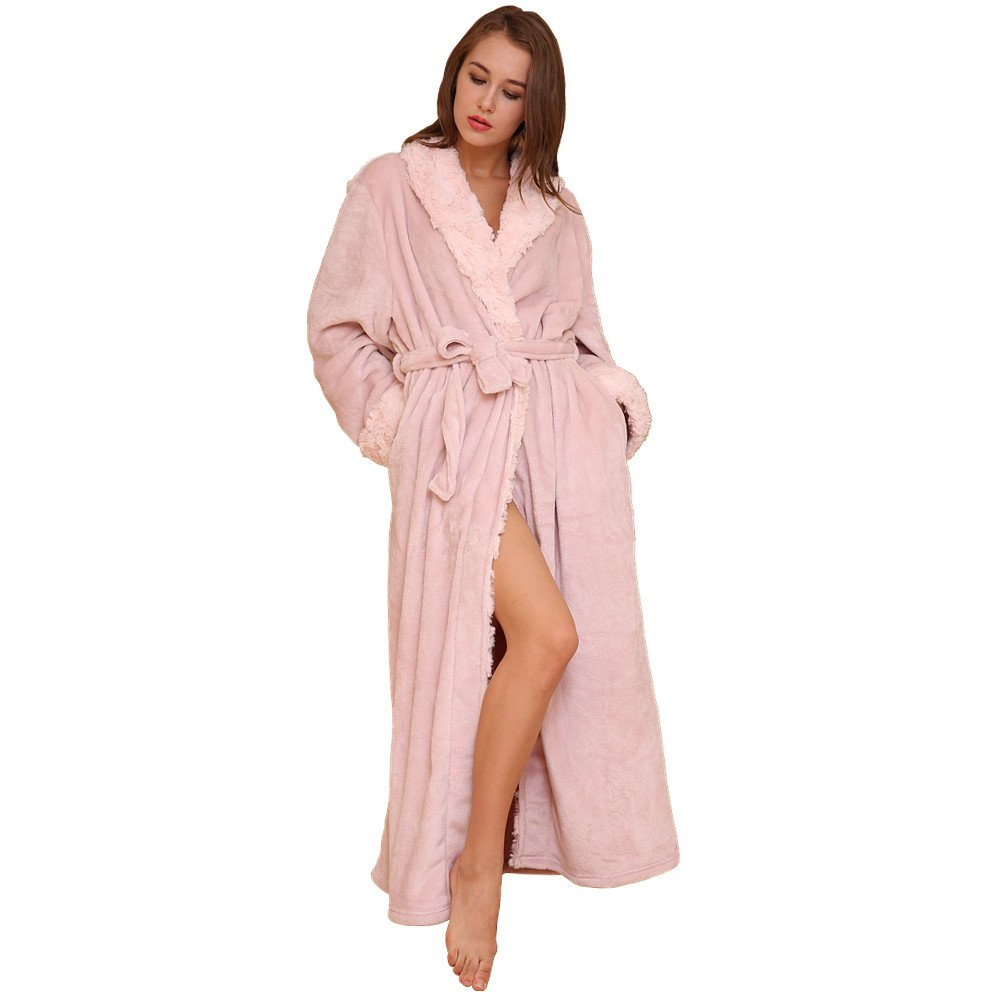 SUNBABY Thicker Long Flannel Sleepwear Bathrobes Couple Pajamas