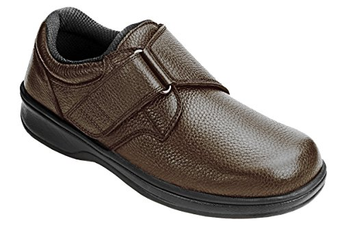 Shoes Broadway (Orthofeet 520 Men's Comfort Diabetic Therapeutic Extra Depth Shoe Brown 9 X-Wide (4E) Velcro)
