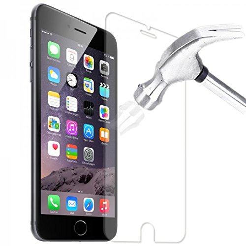 Tasche Hülle Glas Folie f Apple iphone 6 Schutzhülle Schutz Case S Line Bag Rot