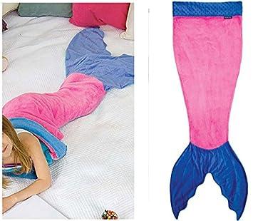 Serena y Dorothy 59 pulgadas x 20 pulgadas tiburón sirena cola ANTI-KICK saco de dormir ...