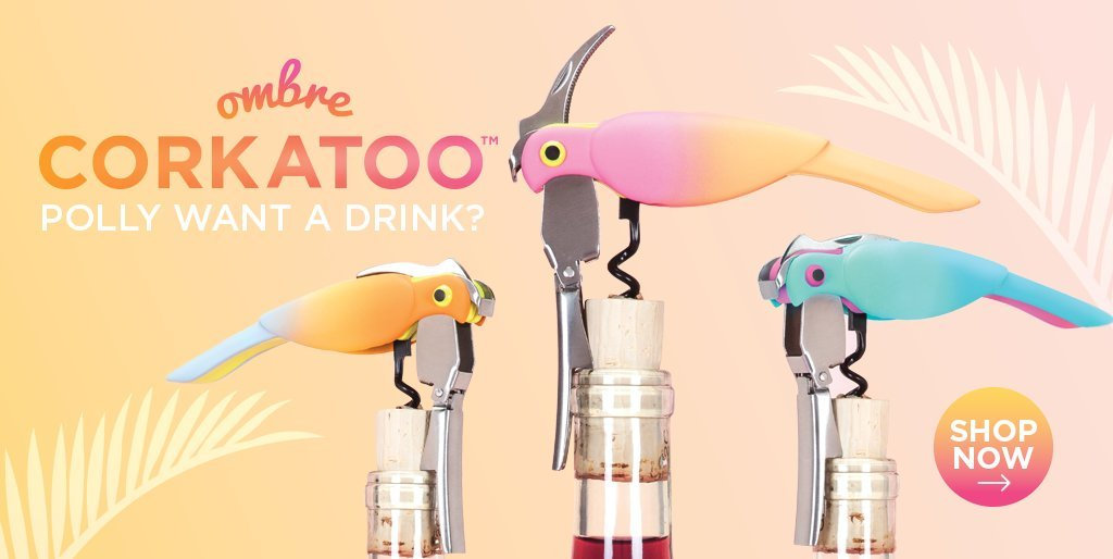 Corkatoo Ombre Double Hinged Corkscrews in Assorted Colors by TrueZoo by TrueZoo (Image #5)
