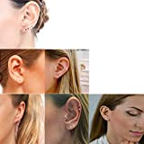 Gorgeouser 14K Gold Plating Tiny 2MM Cubic Zirconia Stud Earrings Minimal 20G Cartilage Piercing Ear Studs Smallest CZ Post Earrings for Women&Men