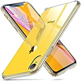 ESR Mimic Tempered Glass Case for iPhone XR, 9H Tempered Glass Back Cover [Mimics the Glass Back of the iPhone XR][Scratch-Resistant] + Soft Silicone Bumper [Shock Absorption] for the iPhone XR, Clear