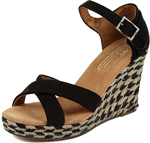 Toms Strappy Wedges Women's Shoes Size 9.5