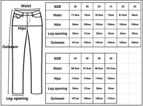 Uomo Jeans Da Street Casual Classici Colour Classiche Gamba Rte Dritti Stile Strappati Ragazzi Worn Skinny 2018 Slim Jeans B1qH4