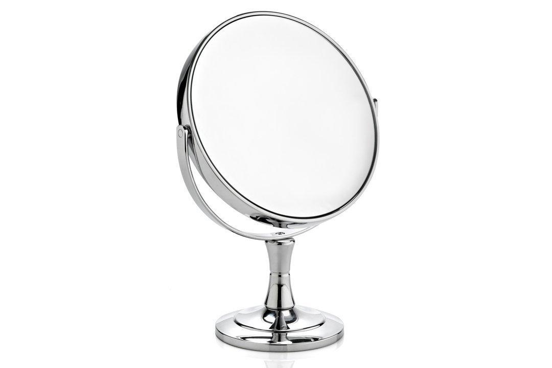 miroir sur pied grossissant x10 2 faces effet loupe salle de bain Novex toutoffrir