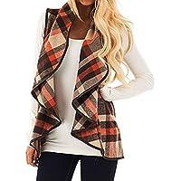 Oksale Womens Vest Woolen Coat Keep Warm Cardigan Coat Sleeveless Jacket