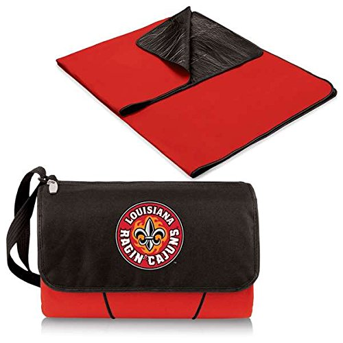 (NCAA Louisiana Lafayette Ragin Cajuns Outdoor Picnic Blanket Tote, Red)