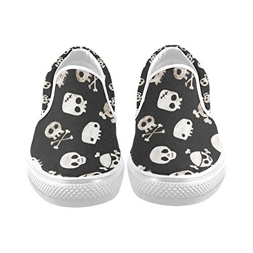 D-Story Custom Cool Skull Print Women's Canvas Shoes Fashion Shoes Sneaker