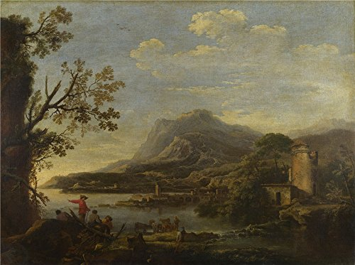 Oil Painting 'Style Of Salvator Rosa A Coastal Scene', 8 x 11 inch / 20 x 27 cm , on High Definition HD canvas prints is for Gifts And Bar, Garage And Gym Decoration, create wall art ()