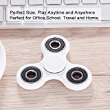 HITASION Tri-Spinner ADHD Fidget Toys Hand Spinner for Adults Kids EDC Focus Ultra Durable 1-3 Min Smooth Spin Not 3d Printing (White)