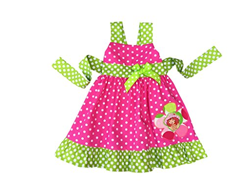 Strawberry Shortcake Dress- Strawberry Shortcake Costume- Pink Lime Strawberry Shortcake Birthday Girl Outfit -