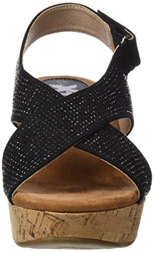 XTI 046554, Sandalias con Plataforma para Mujer Negro (Black)