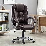 Belleze High Back Executive Adjustable Leather Ergonomic Desk Office Chair (Brown)
