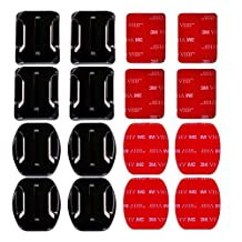 AxPower 16 PCS GoPro Helmet 3M Adhesive Pads Sticker Flat Curved Mounts Accessories kit for HERO 5 4 3+ 3