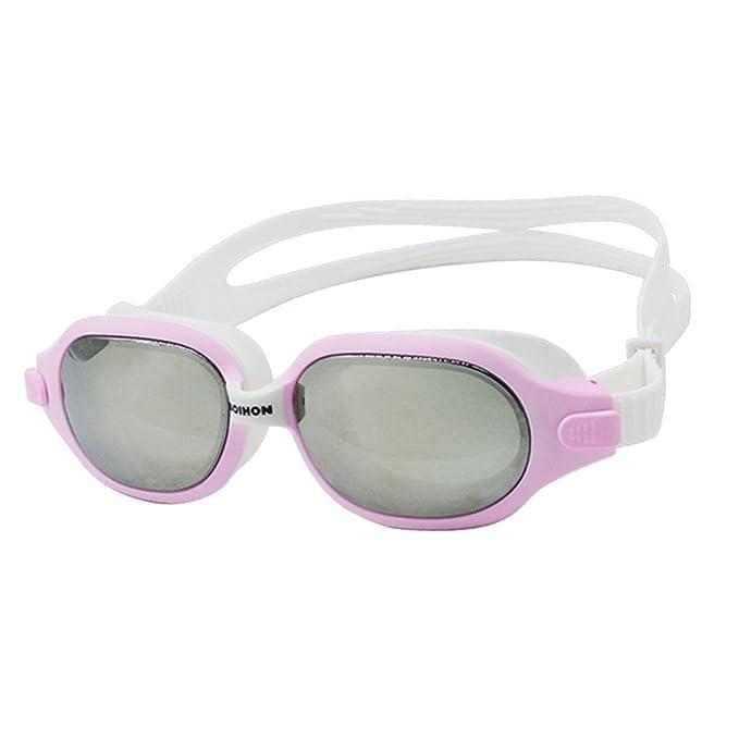 Adultos Gafas de Natación - Marco Grande Espejo de Natación Gafas de  Protección Impermeable Anti Niebla 9424b944cf29