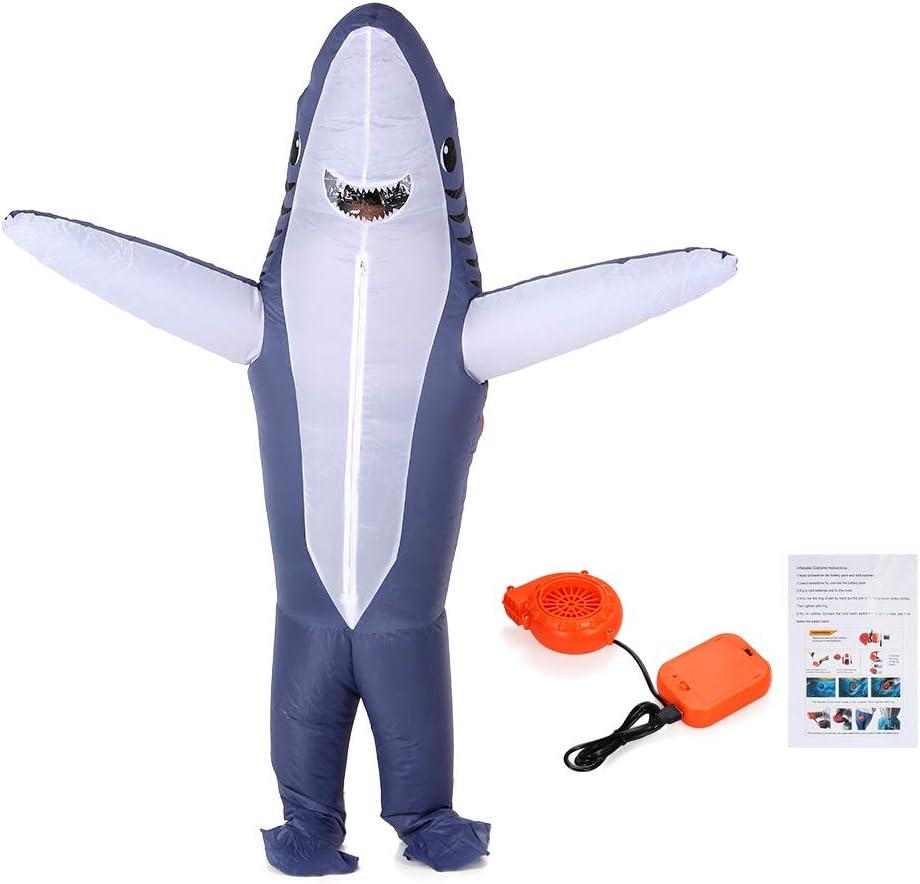 Festnight Adultos Grey tiburón Accesorios de Disfraces inflables ...