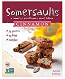 Somersaults Nut Free 100% Natural Sunflower Seed Snacks Cinnamon Crunch Crunchy Nuggets - Pack of 3, 6 Oz. Ea.