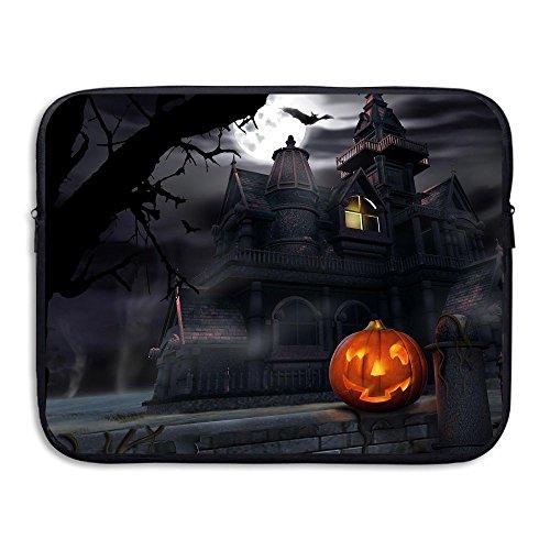 Mr.Roadman Laptop Sleeve Bag Halloween Pumpkin Castle Briefcase Sleeve Bags Cover Notebook Case Waterproof Computer Portable Bags