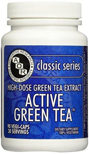 - Advanced Orthomolecular Research AOR Active Green Tea, 90 Count
