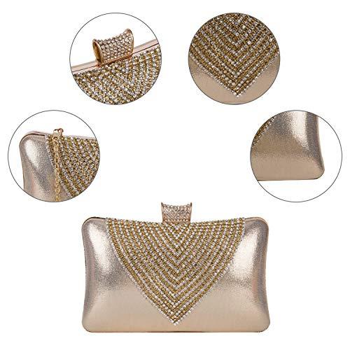 Women Rhinestone Party Handbag Crystal and Evening Clutch Purse Clocolor Bridal Clutches gold Bags Bag for Wedding OnRpXRWU7