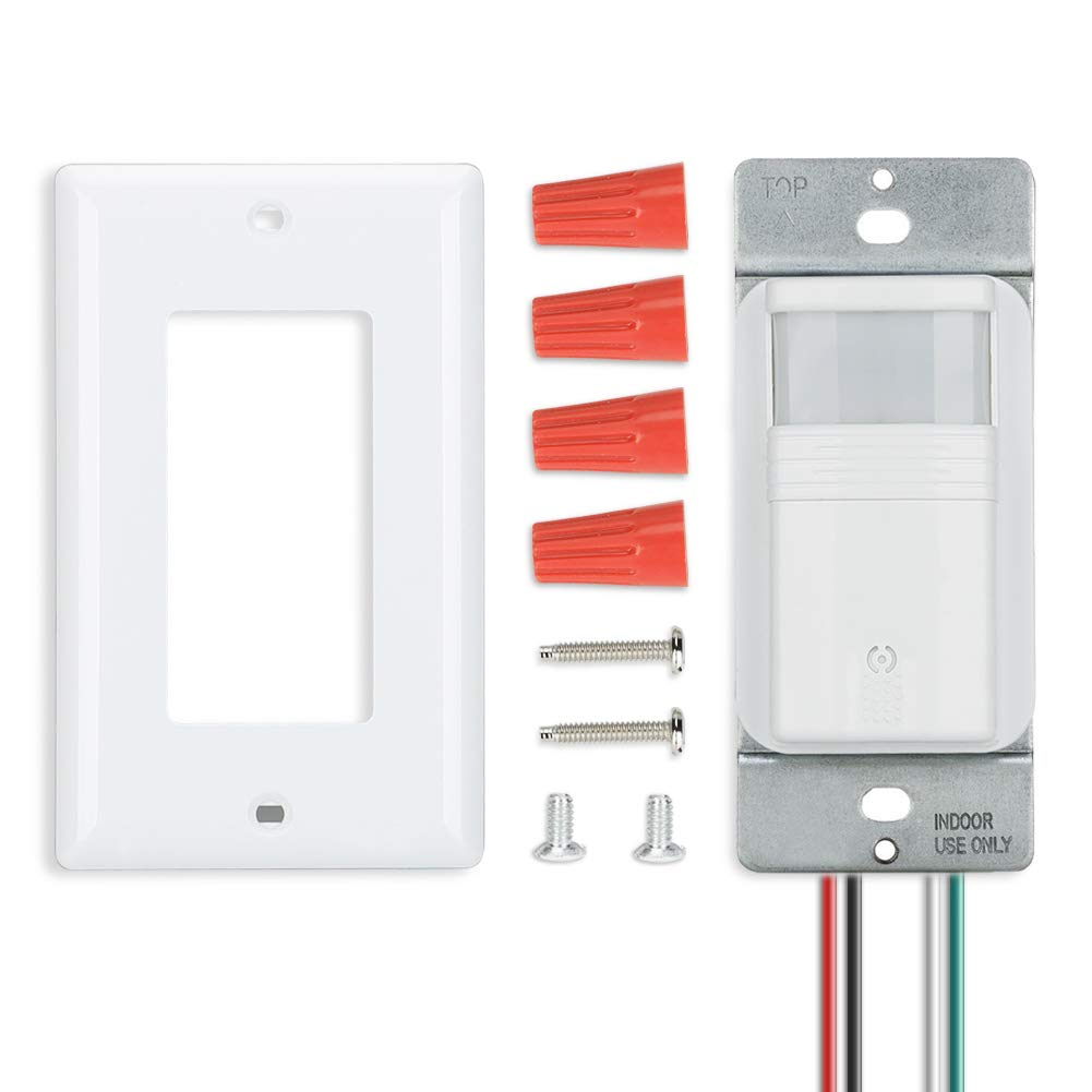ECOELER Motion Sensor Wall Switches, PIR Occupancy Sensor Light Switch, Adjustable Motion-Activated by ECOELER (Image #9)