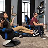 RESPAWN-900 Racing Style Gaming Recliner, Reclining Gaming Chair, in Blue