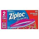 Ziploc Storage Bags Quart , 48 Count