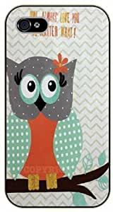 Case For Htc One M9 Cover Owl always love you, no matter what - black plastic case / Animals and Nature, owl, owls
