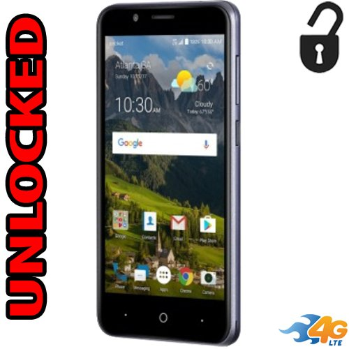 Zte Fanfare 3 Unlocked 4g Lte Usa Latin & Caribbean Quad Core Z852 5mp Flash 8gb Android 7.1 LCD 5.0 (Zte Cell Phone)