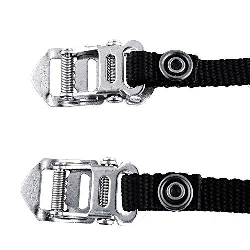 Forfar Montaña camino de la bicicleta de la bici del pedal del dedo del pie flexible clips correas 1pair MTB Carretera Dedo del pie del pedal flexibles clips de correas 1pair