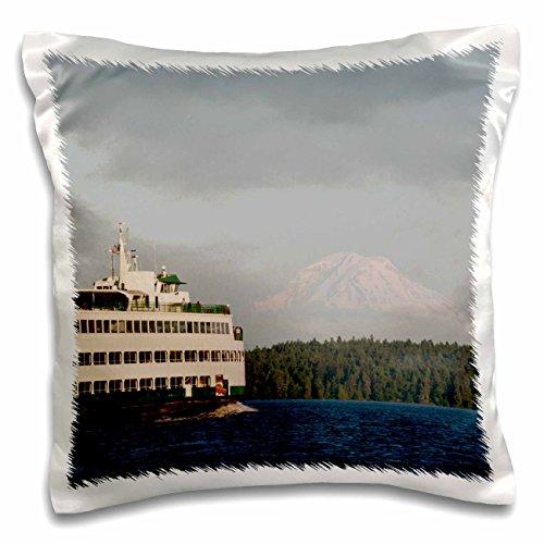 3dRose USA, Washington, Seattle, Ferry Boat in Puget Sound US48 TDR0961 Trish Drury Pillow Case 16 x 16