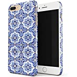 Blue City Moroccan Tiles Pattern Mosaic Thin Design Durable Hard Shell Plastic Protective Case For Apple iPhone 7 Plus / iPhone 8 Plus