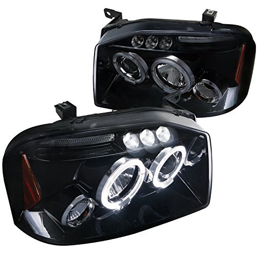 Spec-D Tuning 2LHP-FRO01G-TM For Nissan Frontier Glossy Black Dual Halo LED Projector - Frontier Headlights Halo Nissan