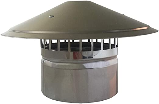 Amazon Com Lxltl Chimney Cowl Stainless Steel Pipe Rain Cover Protector Cap Ending Roof Cowl For Ducting Ventilation Cap Rain Hat Hood 100mm Home Kitchen