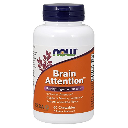 Now Supplements, Brain AttentionTM with Cera-QTM, 60 Chewables