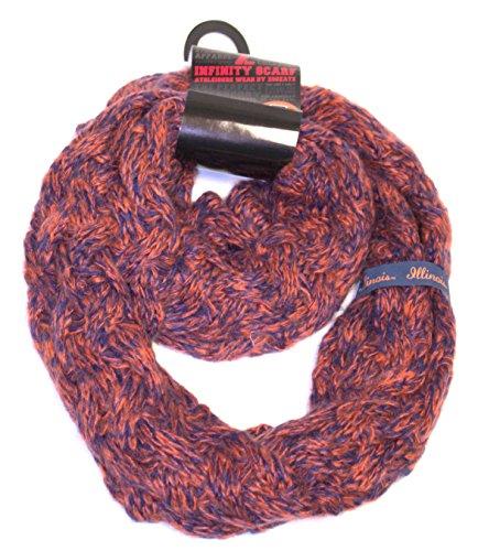 Fighting Duo - ZooZtaz NCAA Illinois Fighting Illini Duo Knit Infinity Scarf