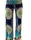 Dorzi(TM) Women's Smocked Waist Baggy Bohemian Harem Loose Leg Pants (L, 6066)