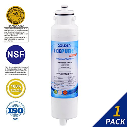 Golden Icepure Water Filter Compatible With Daewoo DW2042FR-09,Aqua Crystal DW2042F-09 …
