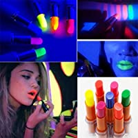 Wanna Party Neon Lip Gloss Glow in The Dark for Halloween Party (Yellow)