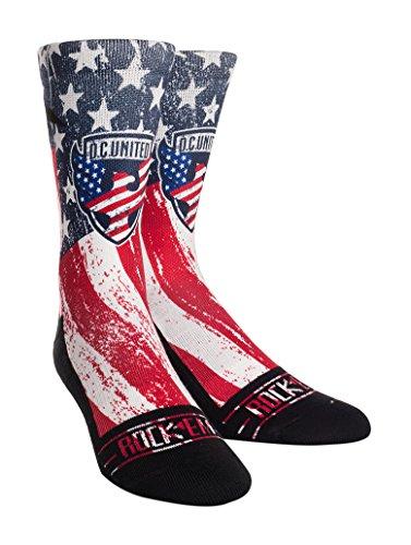 Rock'em Apparel MLS D.C. United Custom Athletic Crew Socks, Youth, Club/Country by Rock'em Apparel