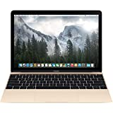 Apple Macbook Retina Display Laptop (12 Inch Full-HD LED Backlit IPS Display, Intel Core M-5Y31 1.1GHz up to 2.4GHz, 8GB RAM, 256GB SSD, Wi-Fi, Bluetooth 4.0) Gold (Renewed)