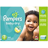Pampers Baby Dry Diapers Giant Pack, Size 3, 144 Count (One Month Supply)