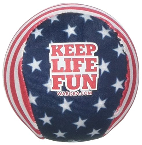 Waboba Water Bouncing Pro Ball-Stars & Stripes, White/Red/Blue ()