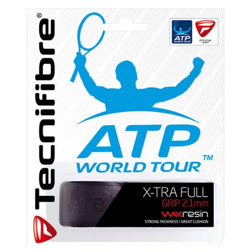 Tecnifibre X-Tra Full Replacement Tennis Grip (Black)