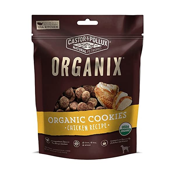 Organix Castor & Pollux Chicken Flavored Dog Cookies 1