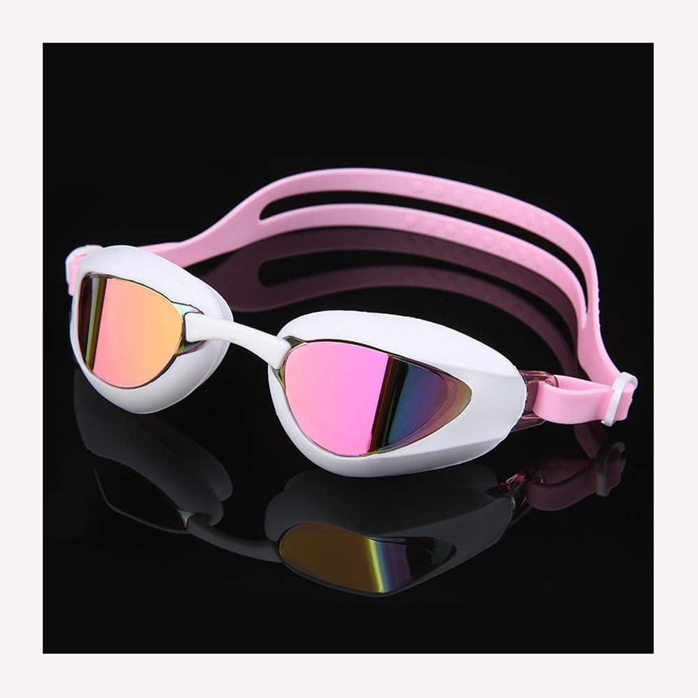 Gafas de natación Gafas de natación para Adultos galvanizadas Anti Niebla Sin Fugas Fácil de Ajustar Cómoda Falda de Silicona Gafas de natación Profesionales para Hombres y Mujeres