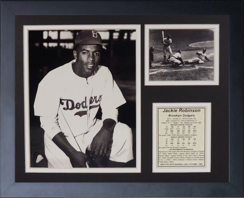 Legends Never Die Jackie Robinson Black and White Framed Photo Collage, 11 by ()